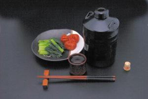 野沢菜と梅干